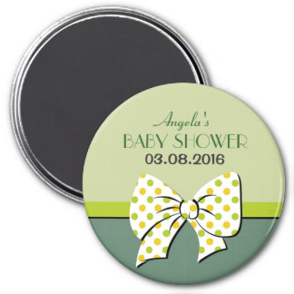 Green Ribbons and Bows Baby Shower Magnet