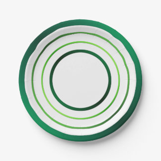 Green Rings 7 Inch Paper Plate