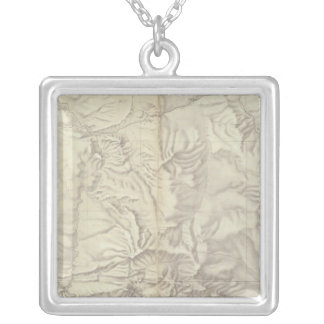 Green River Basin Topographical Silver Plated Necklace