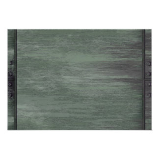 Green riveted steel texture invitations