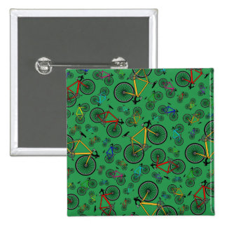 Green road bikes 15 cm square badge