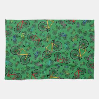 Green road bikes towels