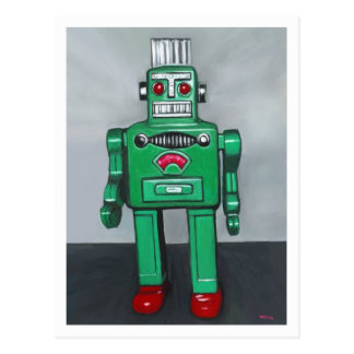 Green Robot Postcard