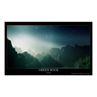 Green Rock Poster