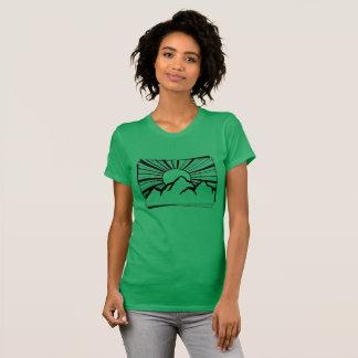 Green Rodney Ridge Mountain Logo Women's T-Shirt