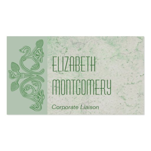 Green Roman Stone Professional Business Cards