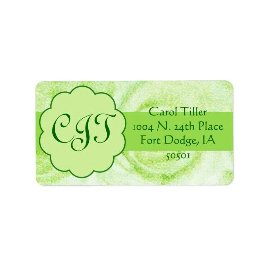 Green roses - labels