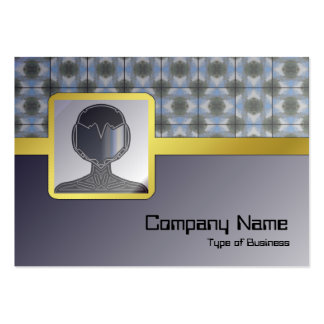 Green Round Bushes Grid Pack Of Chubby Business Cards