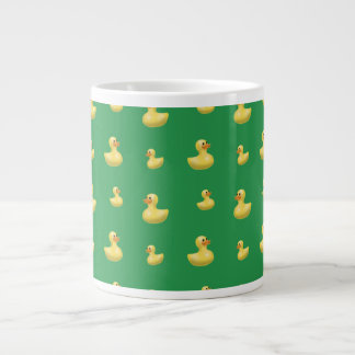 Green rubber duck pattern extra large mug