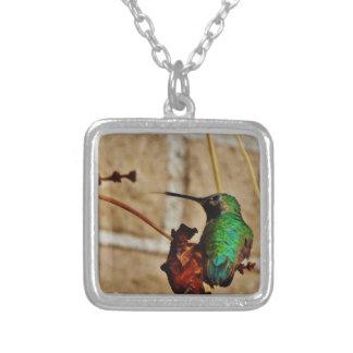 green ruby hummingbird pendants