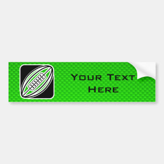 Green Rugby Bumper Sticker