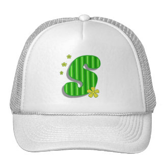 Green S monogram Trucker Hat
