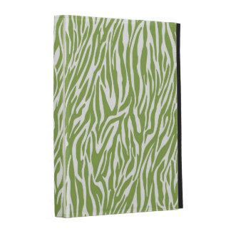 Green Safari Zebra Print iPad Cases