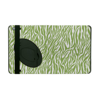 Green Safari Zebra Print iPad Covers