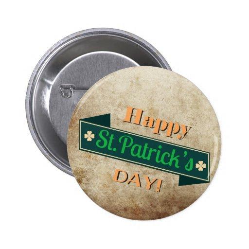 Green Saint Patricks day Banner Button