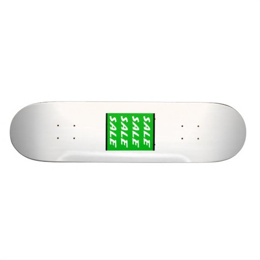 Green Sale Sign Skate Deck