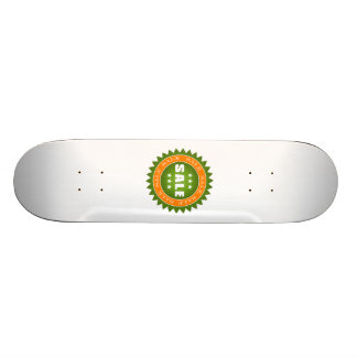 Green Sale Sign Custom Skate Board