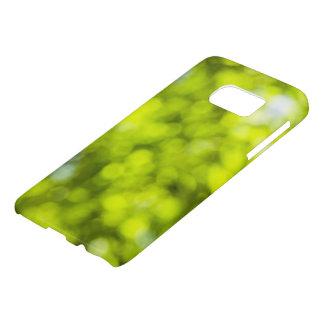 Green  Samsung Case Light Sparkles Design