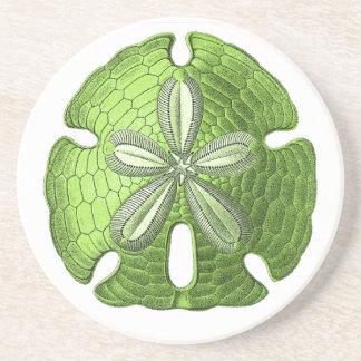 Green Sand Dollar Stone Coaster