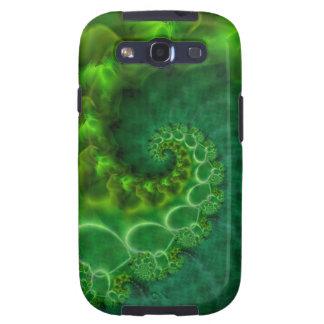 Green Satin Spiral Galaxy S3 Cover