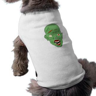 Green scarred zombie doggie tshirt