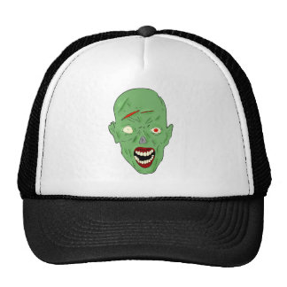 Green scarred zombie hat