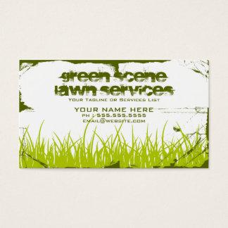 green scene grunge business card