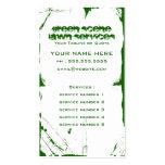 green scene grunge business card template