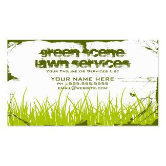 green scene grunge pack of standard business cards