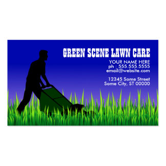 green scene lawn care pack of standard business cards