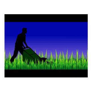 green scene lawn care postcard