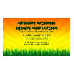 green scene lawn services business cards