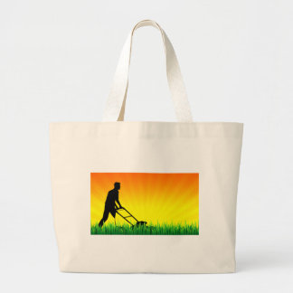 green scene lawn services jumbo tote bag