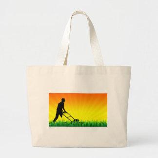green scene lawn services tote bags