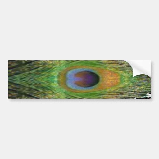 GREEN Scene - Peacock Feather Collection Bumper Sticker