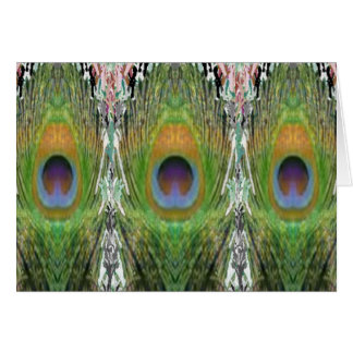 GREEN Scene - Peacock Feather Collection Cards