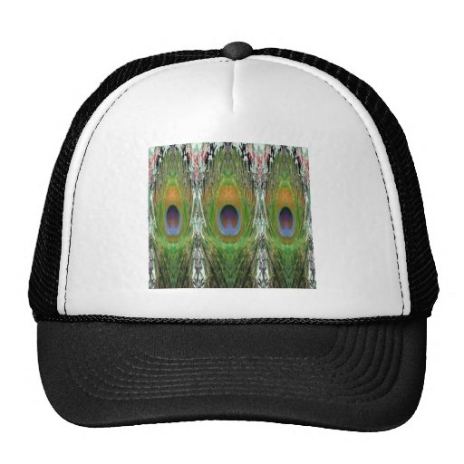 GREEN Scene - Peacock Feather Collection Trucker Hats