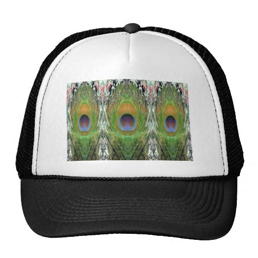 GREEN Scene - Peacock Feather Collection Mesh Hats