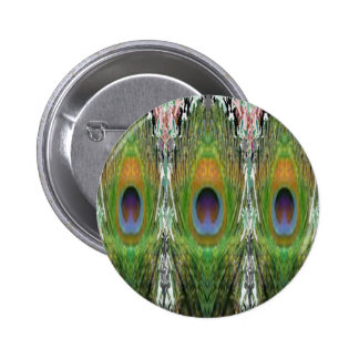 GREEN Scene - Peacock Feather Collection Pins