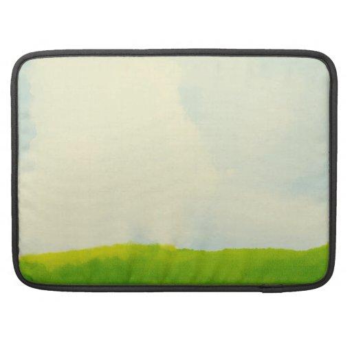 green scenery Rickshaw Flap Sleeve MacBook Pro Sleeves