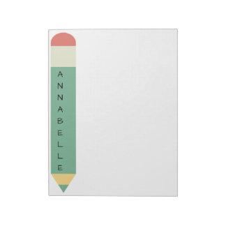 Green School Pencil Notepad