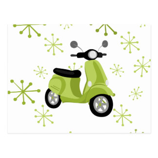 Green Scooter Postcard