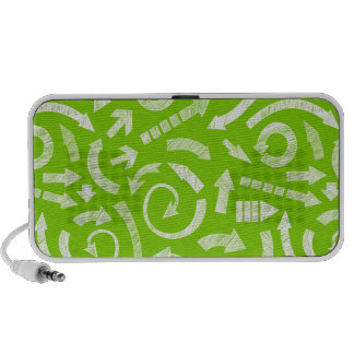 Green Scribbled arrows doodle speakers