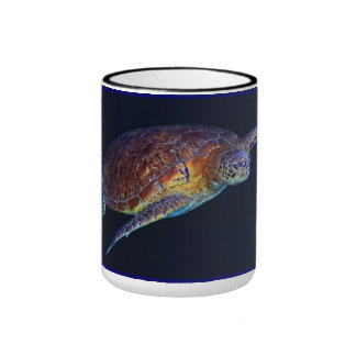 Green Sea in the Coral Sea Ringer Mug