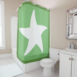 Green Sea Star Shower Curtain