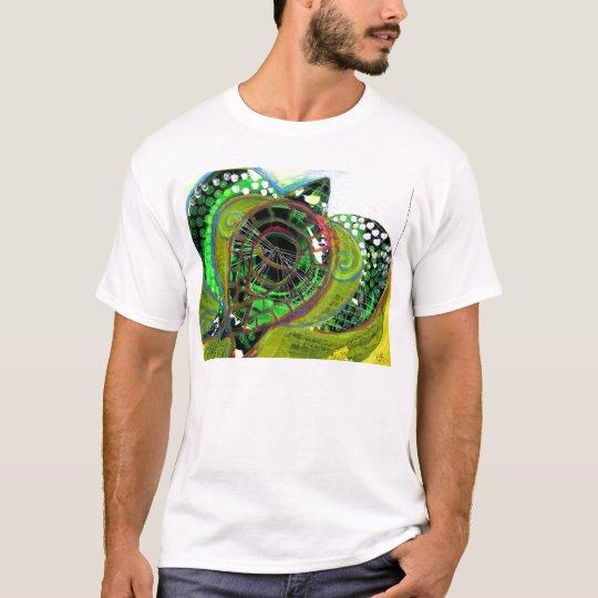 Green Sea Turtle Abstract Art TEE Design Vinnyfish