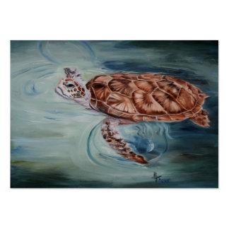 Green Sea Turtle ArtCard Pack Of Chubby Business Cards