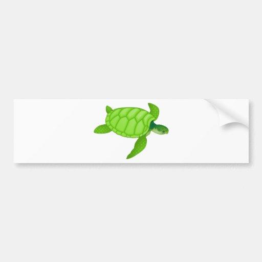 Green Sea Turtle Bumper Stickers