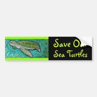 Green Sea Turtle Bumper Sticker Car Bumper Sticker