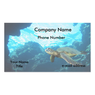 Green Sea Turtle Business Card Template